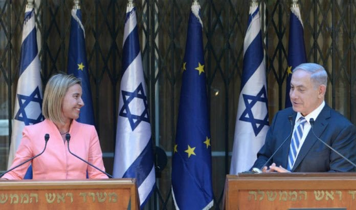 Benjamin Netanyahu og Federica Mogherini møttes i Jerusalem 20. mai. (Foto: GPO)