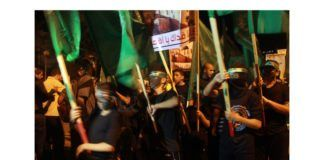Fra en Hamas-demonstrasjon for utslettelse av Israel. (Illustrasjonsfoto: Alray.ps / The Israel Project / Flickr.com / CC)
