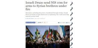 Skjermdump fra Times of Israel 15. juni 2015.
