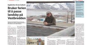 Faksmile fra Svalbardposten 19. juni 2015.