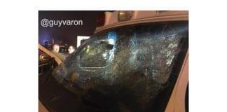 Den israelske journalisten Guy Varon har publisert bilder på Twitter av en av ambulansene som ble angrepet. (Foto: Guy Varon)
