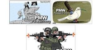 Skjermdump fra en nettside til Fatah-partiet på Vestbredden. (Via Palestinian Media Watch)