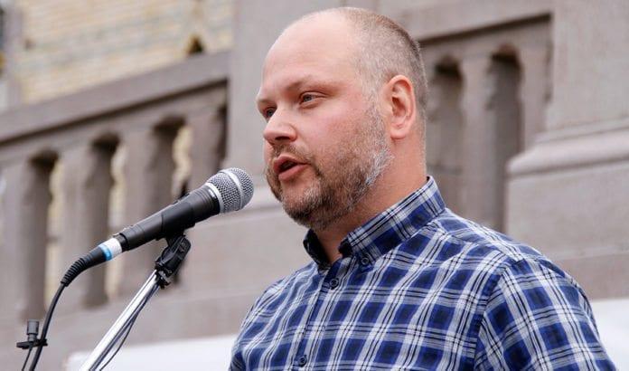 Stortingsrepresentant Kristian Norheim, utenrikspolitisk talsmann for FrP, argumenterte for å avvise forslag om å anerkjenne en palestinsk stat. (Arkivfoto: MIFF)