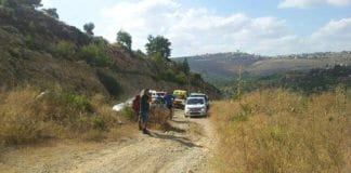 Et bilde fra området hvor angrepet fant sted. (Foto: Tazpit, via ynetnews.com)