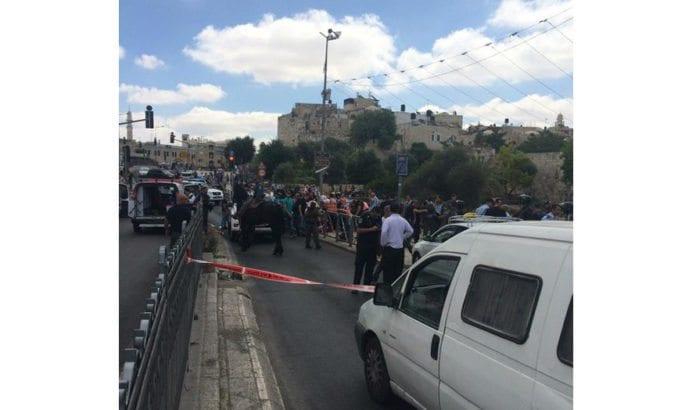 Angrepet fant sted ved Damaskus-porten. (Foto: StandWithUs, via Twitter)