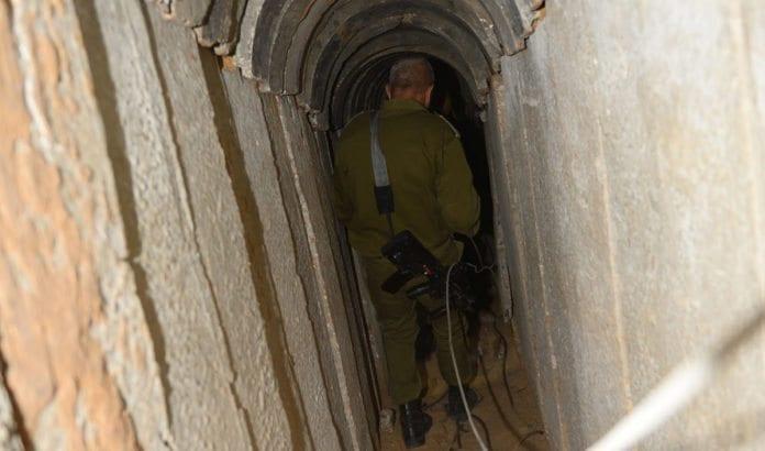 Dette er en av terrortunnelene som tidligere er blitt avdekket av IDF. (Illustrasjonsfoto: IDF)