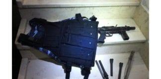 Noen av våpenene som ble beslaglagt i natt. (Foto: IDF)