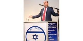 Silvan Shalom talte på et MIFF-møte i Oslo i august 2014. (Foto: MIFF)