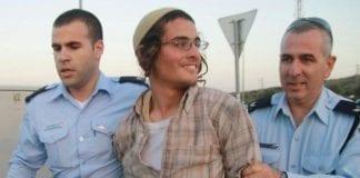 Et arkivbilde fra en tidligere arrestasjon av Meir Ettinger. (Foto: Ehud Amiton, Tazpit, via ynetnews.com)