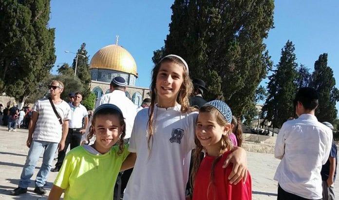 Unge religiøse jøder på Tempelplassen tidligere denne måneden. (Foto: Yeraeh)