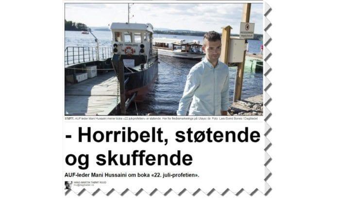 Skjermdump fra Dagbladet.no 2. september 2015.