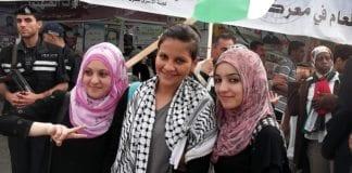 Universitetsstudenter på Gaza 1. mai 2012. (Illustrasjonsfoto: Joe Catron, flickr)