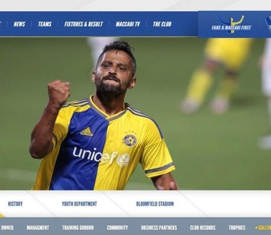 En glad spiller fra Maccabi Tel Aviv (Fra Maccabi Tel Avivs nettside)