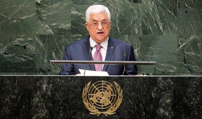 Mahmoud Abbas på talerstolen i FNs generalforsamling i 2014. (Foto: Amanda Voisard, FN)