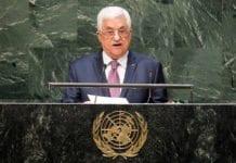 Mahmoud Abbas ser ikke ut til å kunne erklære Oslo-avtalene ugyldige fra FNs talerstol i september likevel. Bildet er tatt i FNs generalforsamling for ett år siden. (Illustrasjonsfoto: Amanda Voisard / FN)