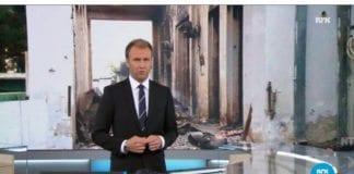 Skjermdump fra NRK Kveldsnytt lørdag 3. oktober 2015.