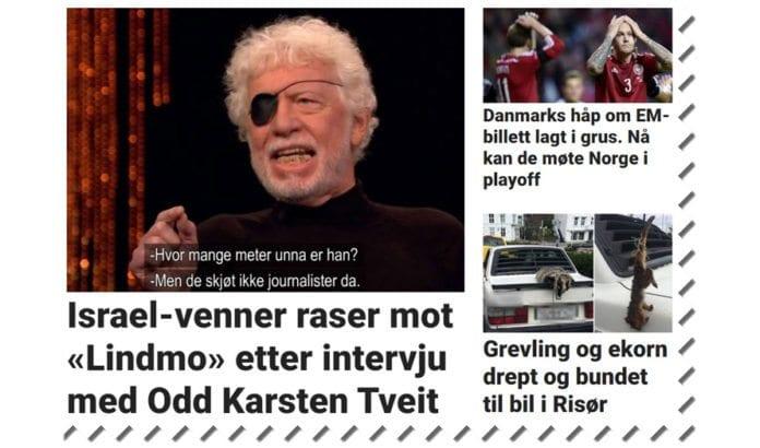 Skjermdump fra toppen av Dagbladet.no 11. oktober 2015.