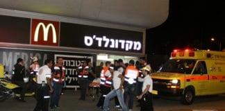 Fra åstedet for terrorangrepet i Beersheba 18. oktober 2015. (Foto: Meir Even Haim, Flash90)