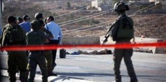 Fra åstedet for terrorangrepet nord for Jerusalem 21. oktober 2015. (Foto: Yonatan Sindel, Flash90)