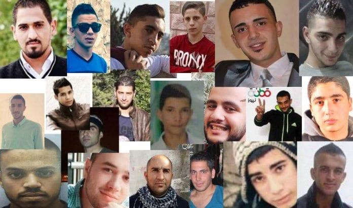 Unge palestinske menn som ble stanset da de forsøkte å drepe jøder med kniv, skytevåpen eller kjøretøy i oktober 2015. (Foto: via AlJazeera)