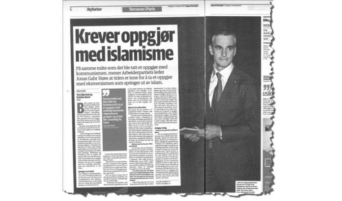 Faksmile fra Dagens Næringsliv lørdag 21. november 2015.