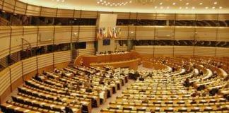 Europaparlamentets plenumsal i Brussel. (Illustrasjonsfoto: Wikimedia Commons)