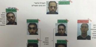 De 7 IS-støttespillerne som er avslørt av Shin Bet. (Foto: Shin Bet)