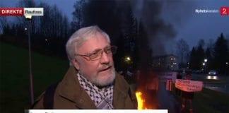 Lars Gule importerte mini-intifada til Norge. (Foto: Skjermdump fra TV2 Nyhetskanalen)