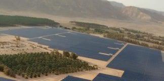 Solenergiproduksjon utenfor Eilat. (Foto: Kibbutz Ketura)
