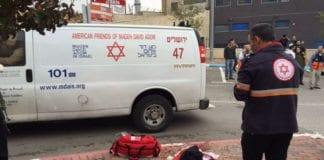 Her ble en israeler knivstukket fredag 6. november. (Foto: Magen David Adom)