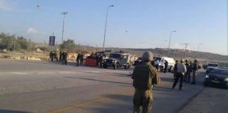 Her forsøkte en palestinsk kvinne å angripe israelske vaktmannskaper med kniv mandag morgen. (Foto: Det israelske forsvarsdepartementet)