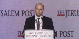 Utdanningsminister Naftali Bennett. (Skjermdump fra video fra Israel Video Network)
