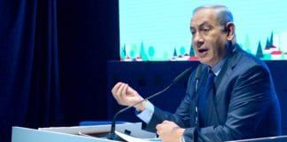 "Netanyahu bekreftet at Israel opererer i Syria ""fra tid til annen"", da han talte på Galilea-konferansen i Akko tirsdag. (Foto: GPO)"