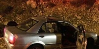 Bilen til ekteparet Nir etter skyteangrepet onsdag 9. desember. (Foto: Magen David Adom)