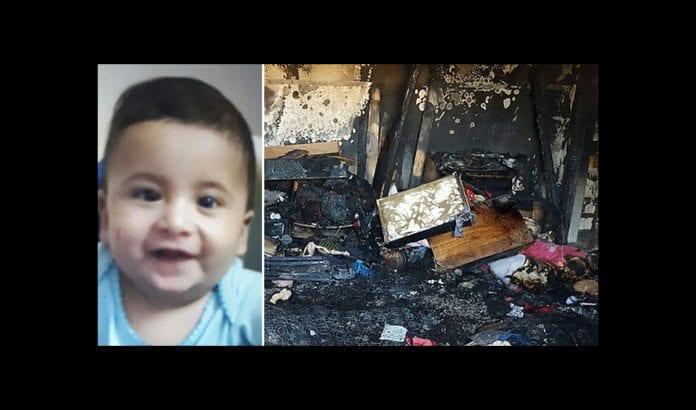 18 måneder gamle Ali Dawabsheh ble drept i mordbrannangrepet mot familiens hjem i Duma på Vestbredden 31. juli. (Foto: Privat via Ynetnews.com)