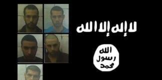 Disse fem er arrestert for IS-tilknytning. (Foto: Shin Bet via Jerusalem Post)