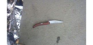 Kniv brukt i angrep på Vestbredden 27. desember 2015. (Foto: Yitzhar Security)