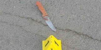 Kniven som ble brukt i angrepet i Hebron mandag 7. desember. (Foto: Det israelske politiet)