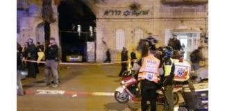 Her ble en politimann knivstukket torsdag ettermiddag. (Foto: United Hatzolah)