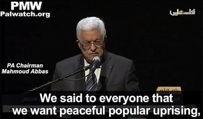 Mahmoud Abbaas omtaler terrordrap som