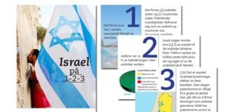Israel på 1-2-3 er en visittkortflyer fra MIFF. Bestill til utdeling nå!