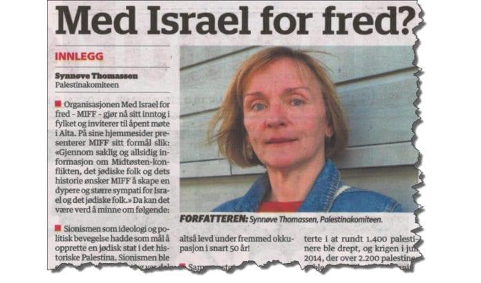 Faksmile fra leserinnlegg i avisen Finnmarken 15. januar 2016.