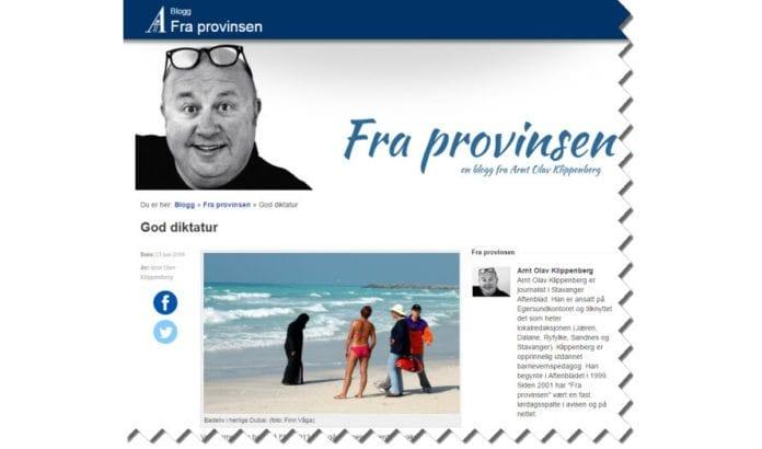 Skjermdump fra Stavanger Aftenblad.