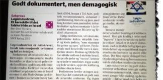 Faksmile av bokanmeldelsen i Fædrelandsvennen.