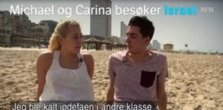 Michael og Carina besøker Israel (Skjermdump fra NRK)