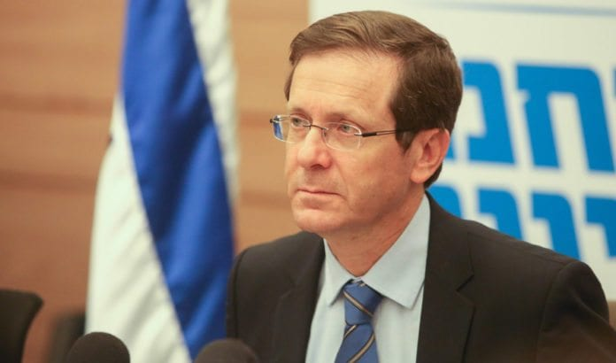 Zionist Union-leder Isaac Herzog. (Foto: Flash90)