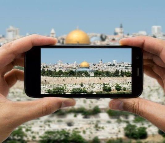 Gamlebyen i Jerusalem sett gjennom en smartmobil (Foto: Skjermbilde fra nettsiden www.atsisrael.com)