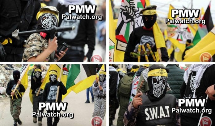 Fra Fatahs 51-årsmarkering av etableringen i Betlehem. (Foto: Ma'an, via PMW)