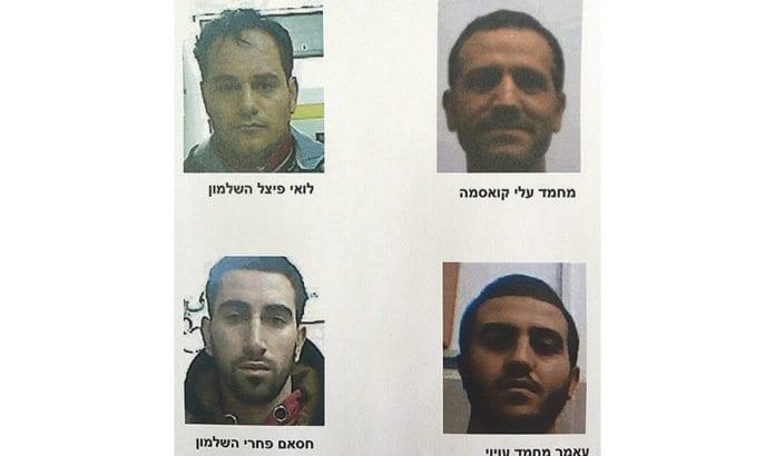 Disse fire er arrestert for å ha planlagt skyteangrep mot israelere. (Foto: Shin Bet)