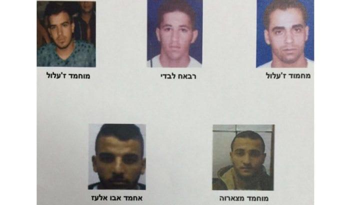 Disse fem er arrestert for deltakelse i en terrorcelle underlagt Hizbollah på Vestbredden. (Foto: Shin Bet)